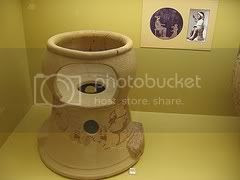Some vessels have a less than honorable use...such as this ancient potty...