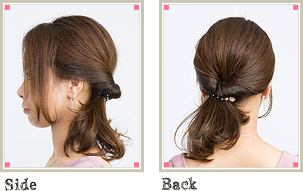 結婚式の髪型、自分でできる簡単可愛いパーティヘアアレンジ  - 結婚式二次会ヘアアレンジ簡単