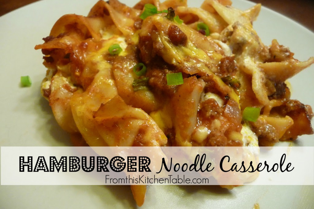 Hamburger Noodle Casserole