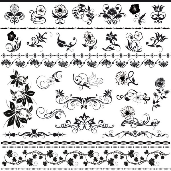 Beautiful Lace Pattern Vector 03 Download Free Vectors Graphic Design