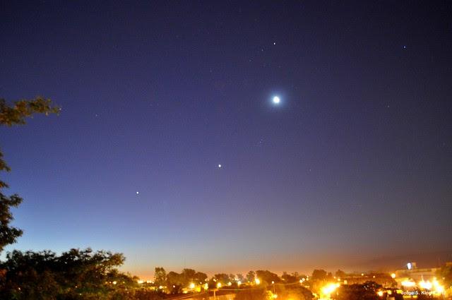 Venus, Júpiter y la Luna