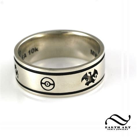 Handmade Custom Pokemon Wedding Band by Earth Art Gem