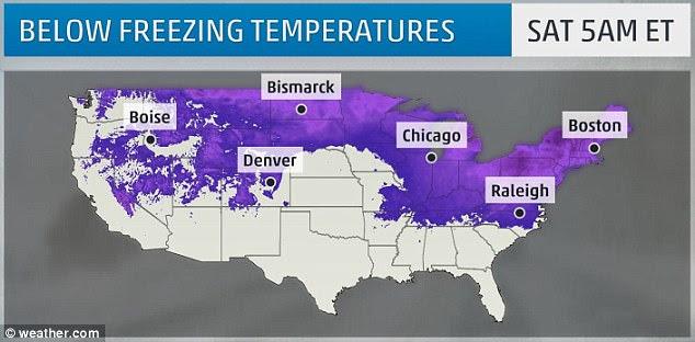 El fin de semana del Día de los Veteranos vio gran parte del país golpeado con una explosión de aire ártico.  Las temperaturas de congelación se sintieron en la mitad norte de los Estados Unidos continentales