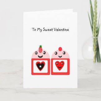 To My Sweet Valentine card