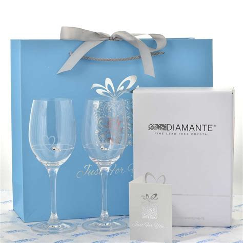 Personalised Mr And Mrs Petite Wine Glass Set
