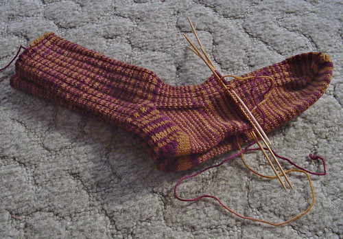 how far I got with one skein