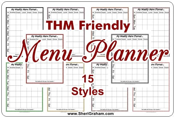 A Gift for You...an editable Weekly Menu Planner - Sheri Graham