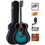 Yamaha FS720S Small Body Folk Acoustic Guitar Bundle with Hardshell Case, Tuner, Instructional DVD, Strings, Pick...