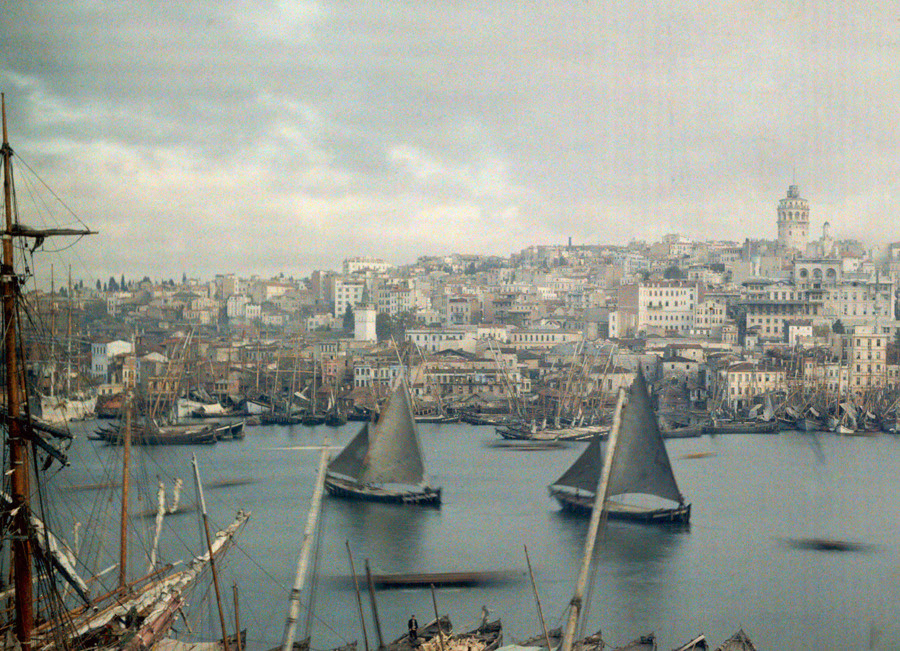 The Golden Horn at Galatea in Constantinople, now modern-day Istanbul.Photograph by Jules Gervais Courtellemont, National Geographic