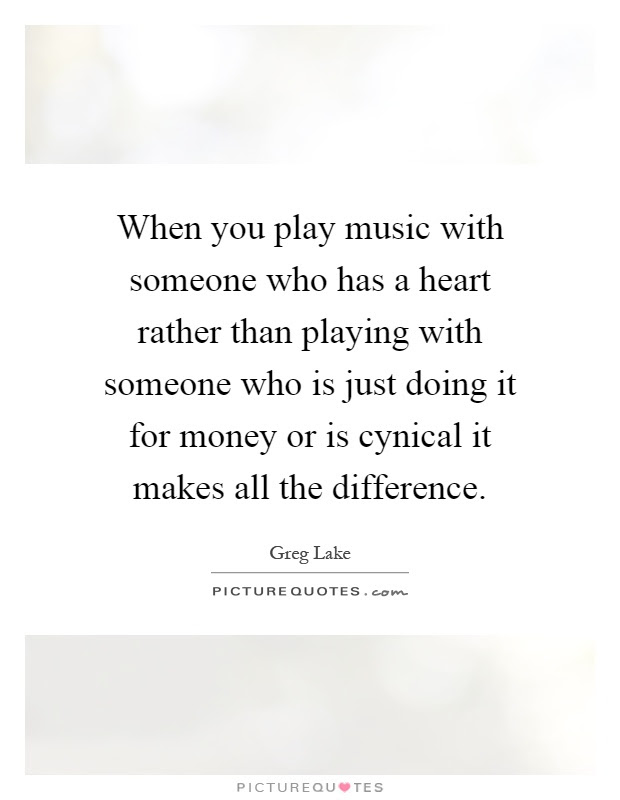 When You Play Music With Someone Who Has A Heart Rather Than