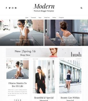 Gride Modern Full Blogger Templates