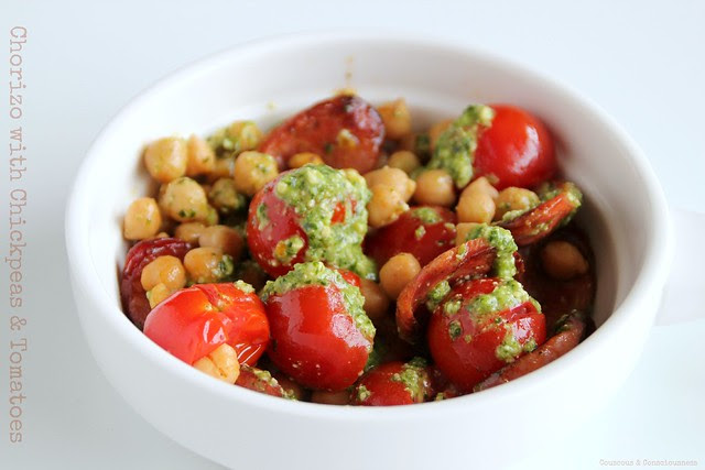 Chorizo with Chickpeas & Tomatoes 3