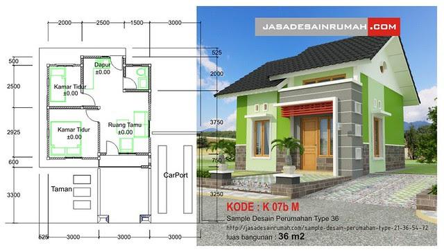 Sample Desain Perumahan Type 21, 36, 54 & 72 @ Jasa Desain