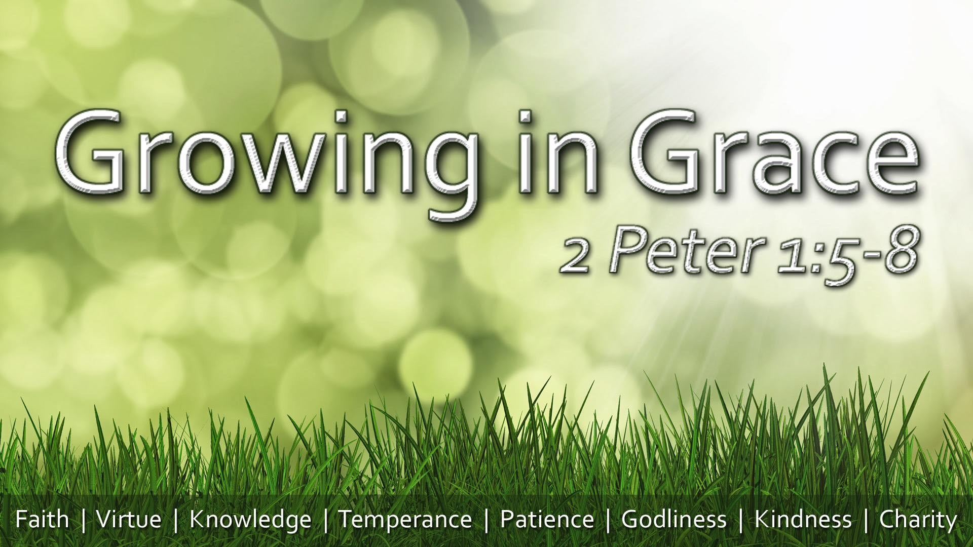 Growing In Grace Part 2 Virtue
