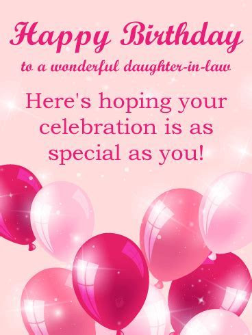 To a Beautiful Daughter in Law   Happy Birthday Card