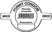 Funny condom disclaimer.