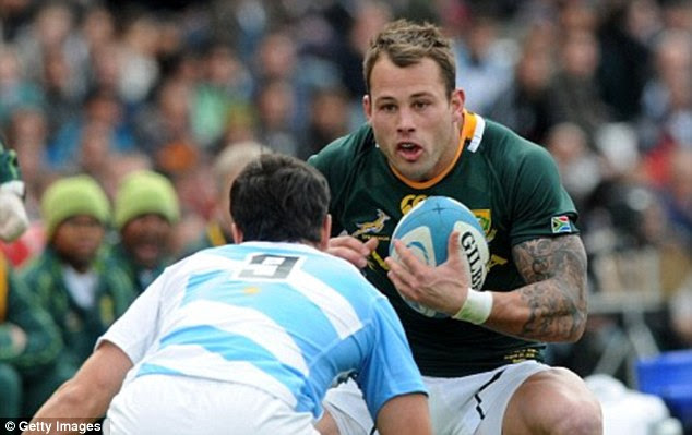 Speculation: Reeva Steenkamp is understood to have dated rugby star Francois Hougaard in the past