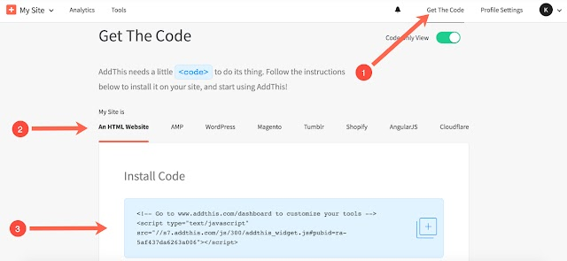 How to Install AddThis on a Blogger