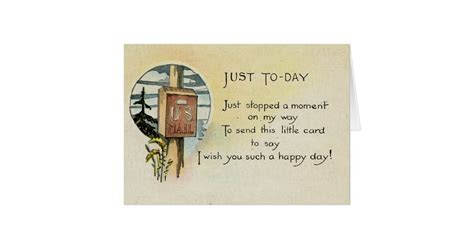 Just Because Greeting Card (1921)   Zazzle