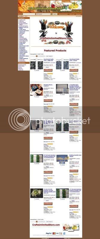 CraftsUnlimitedStore.com Template Design