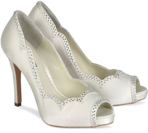 Luxury White Bridal Shoes: Rhinestone Wedding Shoes With