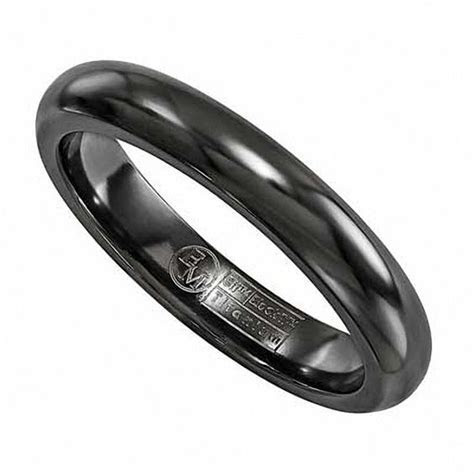 Edward Mirell Men's 4.0mm Wedding Band in Black Titanium