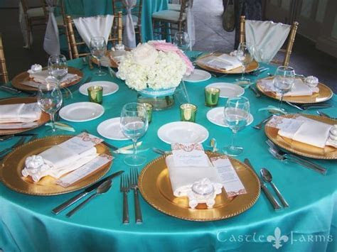 turquoise and gold wedding decor   Google Search   Wedding