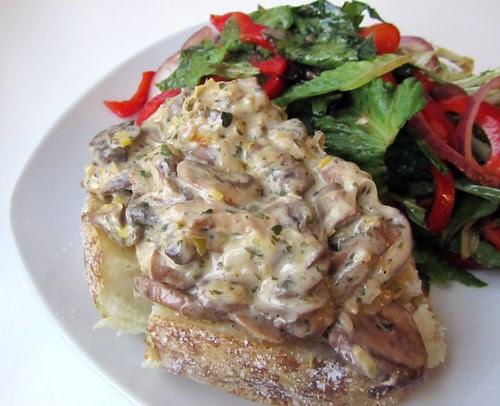Mushroom-y Jacket Potato & Salad