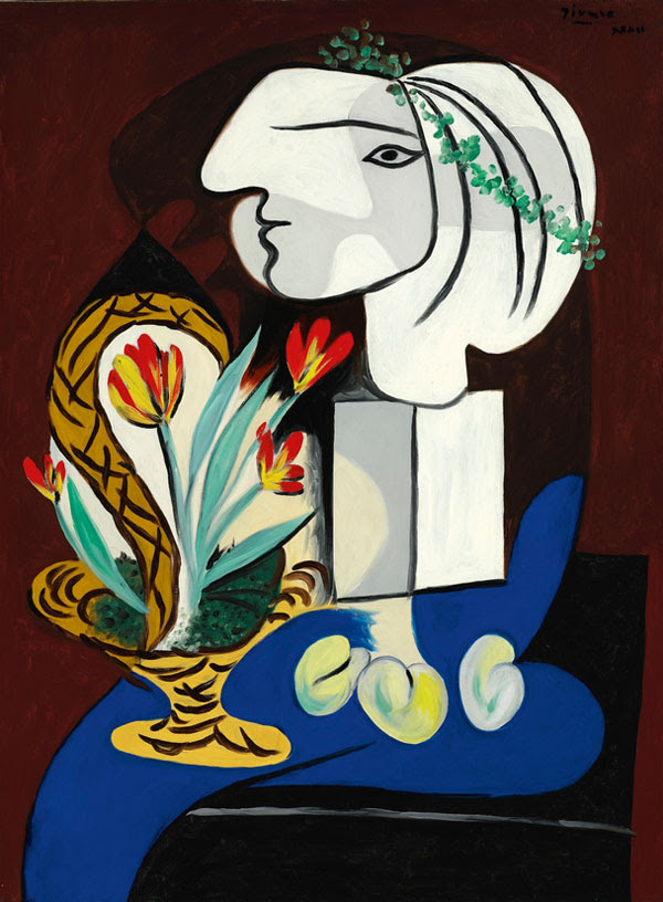 Pablo Picasso Nature morte aux tulipes.