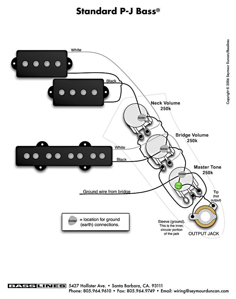 Music Instrument: Precision Bass Wiring Schematic