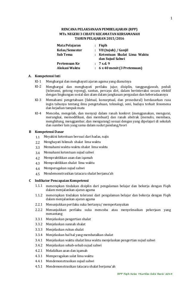 Contoh Rpp Ekosistem Kelas 7 Smp Contoh Jul