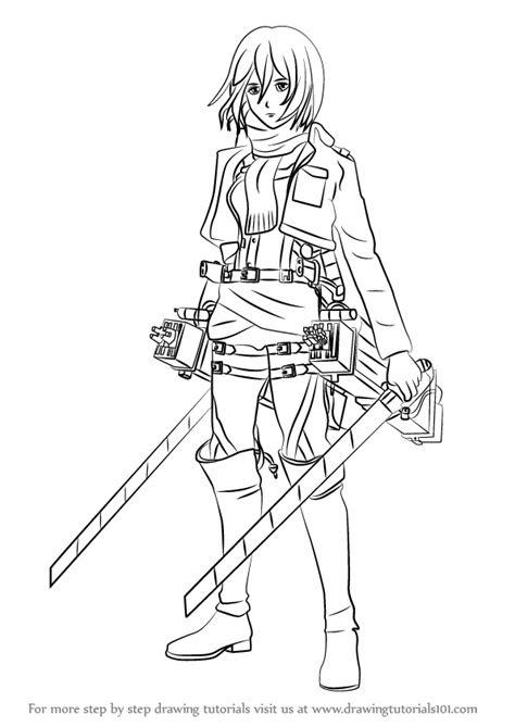 learn   draw mikasa ackerman  attack  titan