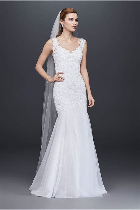 Beaded Venice Lace Trumpet Wedding Dress