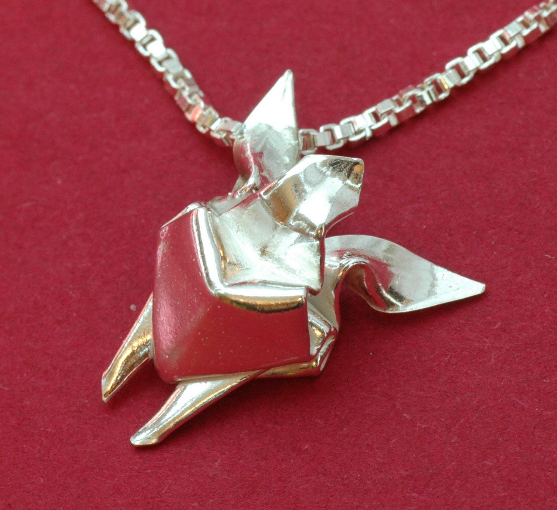 Origami Sea Turtle (Honu) Pendant and Necklace, EJA