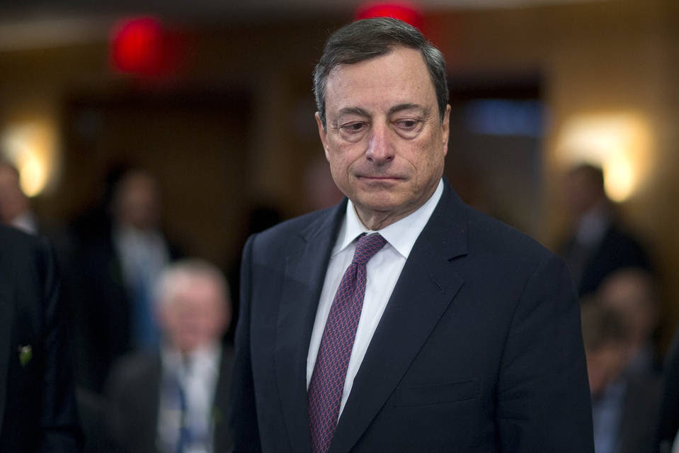ECB President Mario Draghi pictured in April. ECB officials will no doubt continue to strike a dovish tone.