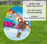 Easter Egg Yard Art Woodworking Pattern - fee plans from WoodworkersWorkshop® Online Store - easter eggs,elephants,teddy bears,hot air ballons,yard art,painting wood crafts,scrollsawing patterns,drawings,plywood,plywoodworking plans,woodworkers projects,workshop blueprints