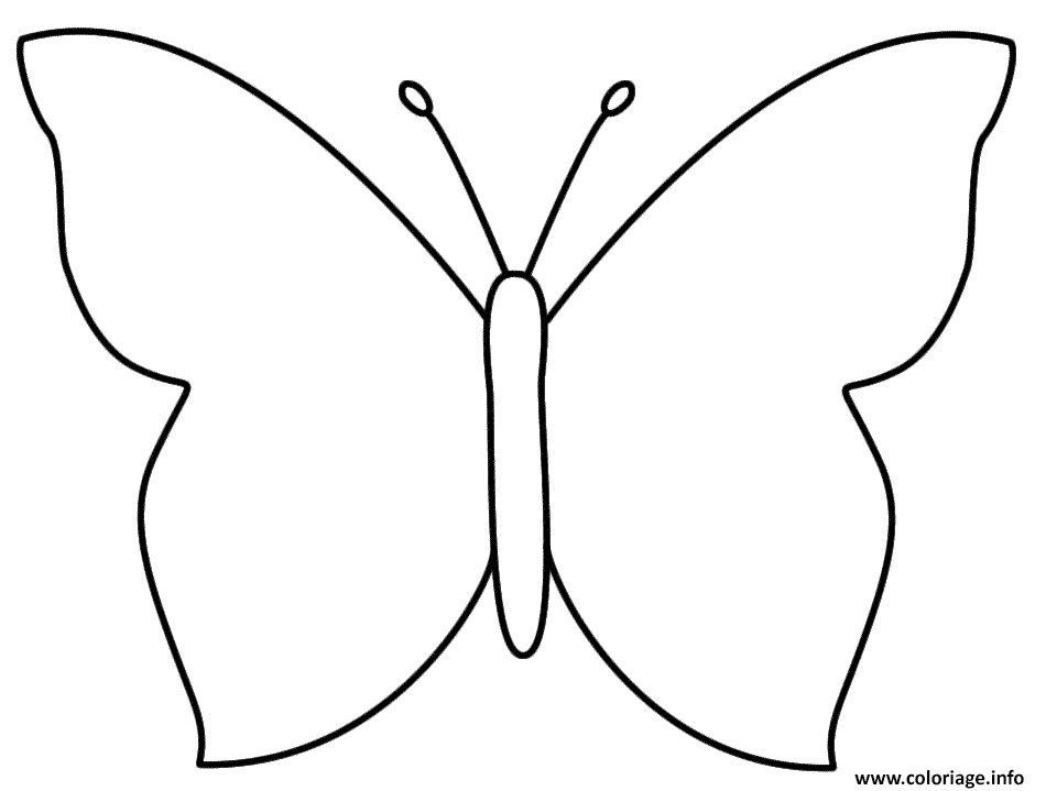 Coloriage Papillon Facile 106 Jecoloriecom