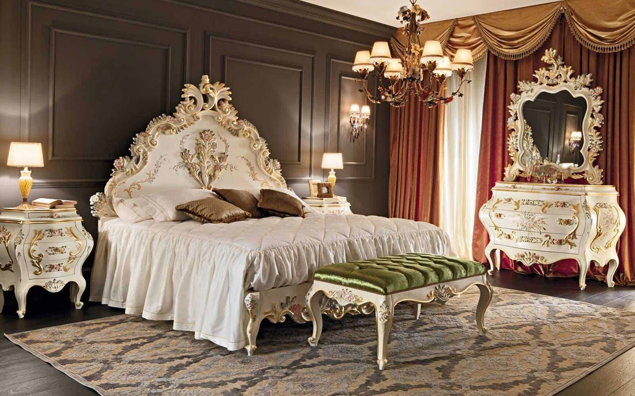 Luxury Baroque Style bedroom interior design