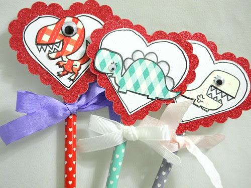 Valentine's Day Pencils (detail)