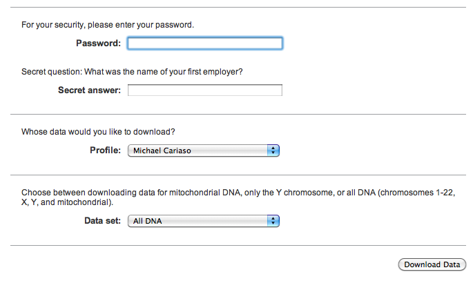 23andMe security questions
