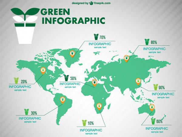 デザインや資料作成に便利無料ダウンロードできる世界地図ベクター素材