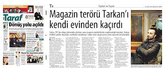 Tarkan in Taraf paper