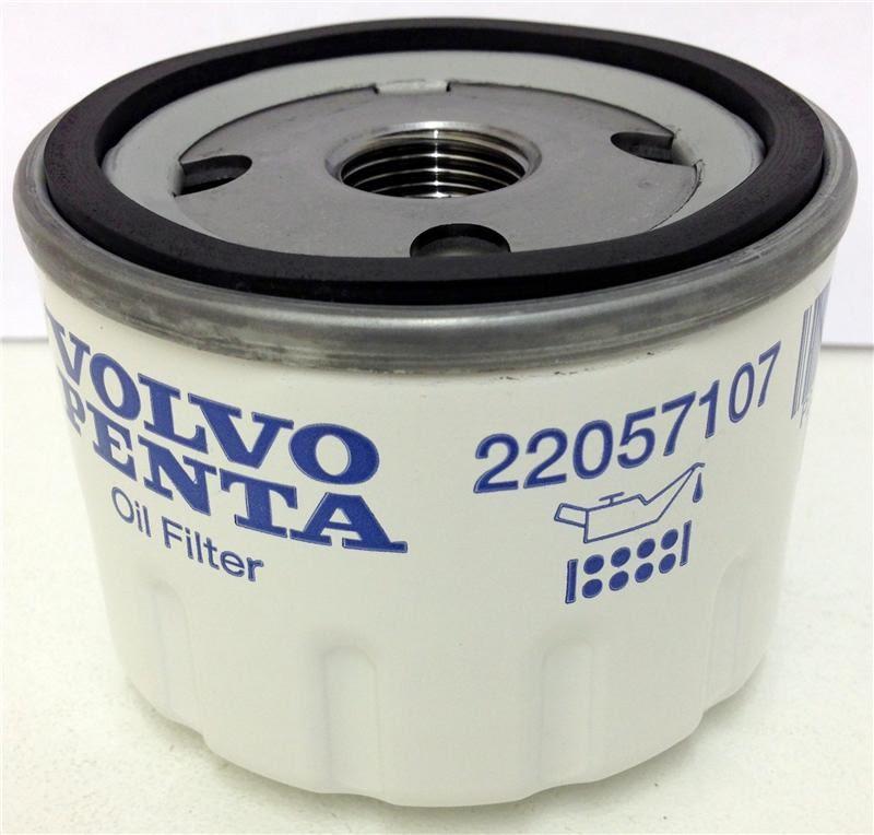 volvo penta 22057107 oil filter  french marine motors ltd
