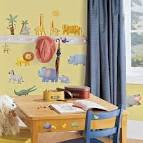 Friendly Unique Animal Sticker for Kids Playroom Wallpaper ...