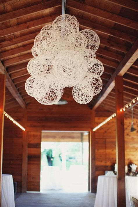 DIY hanging decor. fill/lace string lights in and threw