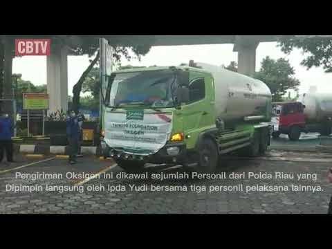Polda Riau Kawal pengiriman 70 ton Oksigen untuk pasien Covid-19 di Jakarta.