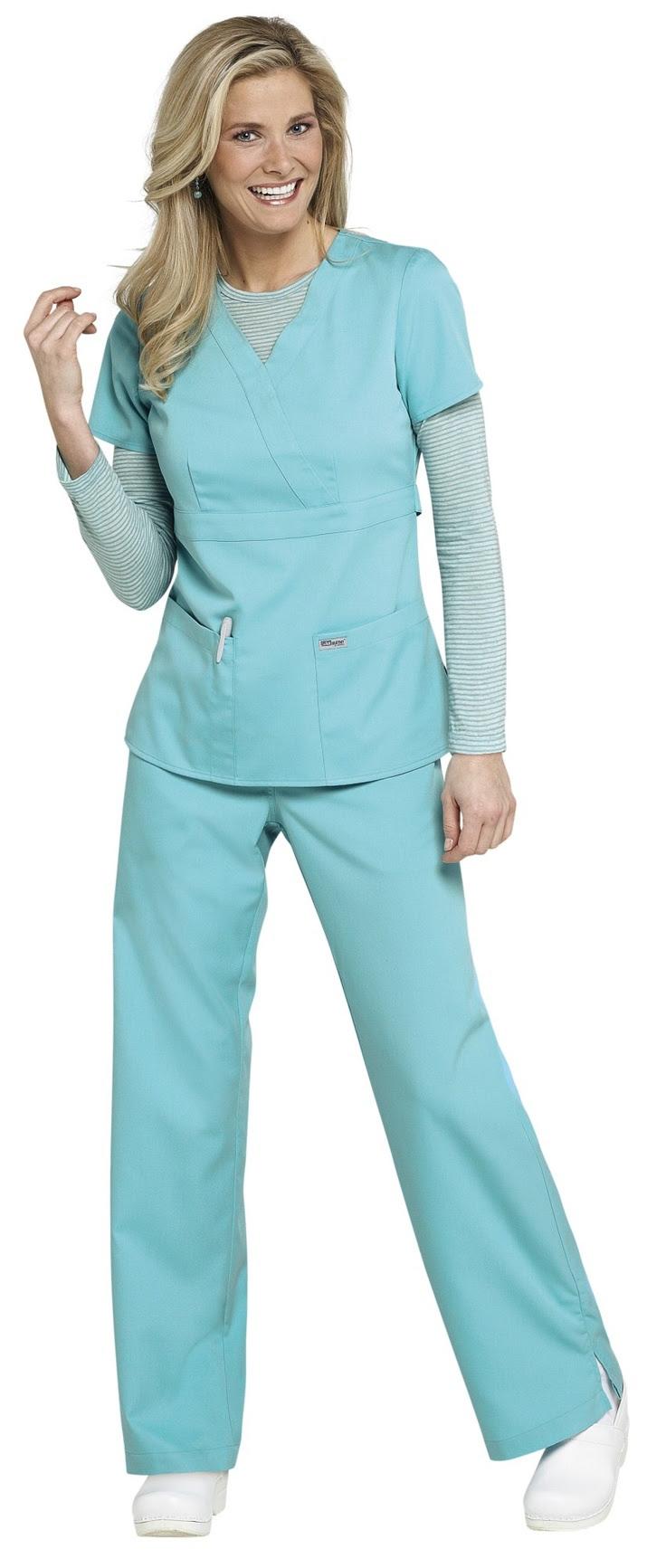 Greys Anatomy 3-pocket mock-wrap scrub top.....Seriously only scrubs i ...