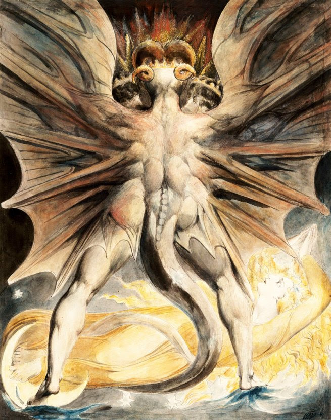 William Blake (1757-1827) 'The Great Red Dragon and the Woman Clothed with the Sun' c.1803-1805