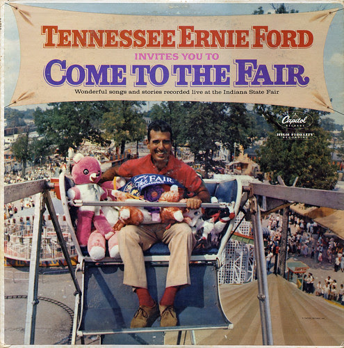 Tennessee Ernie Ford Invites You To Come To The Fair Record Album Cover