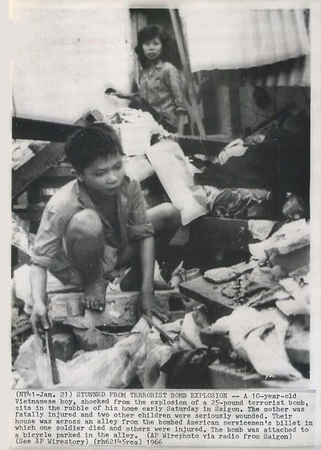 1966 Terrorist Attacks in Saigon - Press Photo